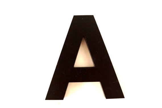 Vintage Industrial Letter A 3D Sign Letter in Black par ThirdShift