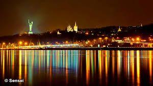 Ночные огни над Днепром.