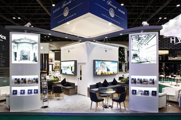 Raffles Fairmont & Swissôtel Exhibition Stand Design by Elevations UK for ATM Dubai 2016.