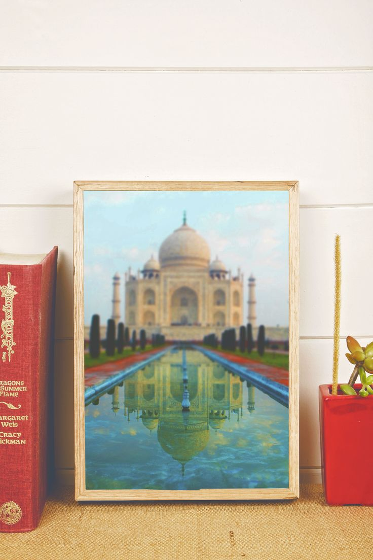 Reflecting Taj, by photographer Graeme Passmore. Photograph available to buy as a print on our stone and reclaimed timber panels. Visit: www.imogenstone.com.au for more details.