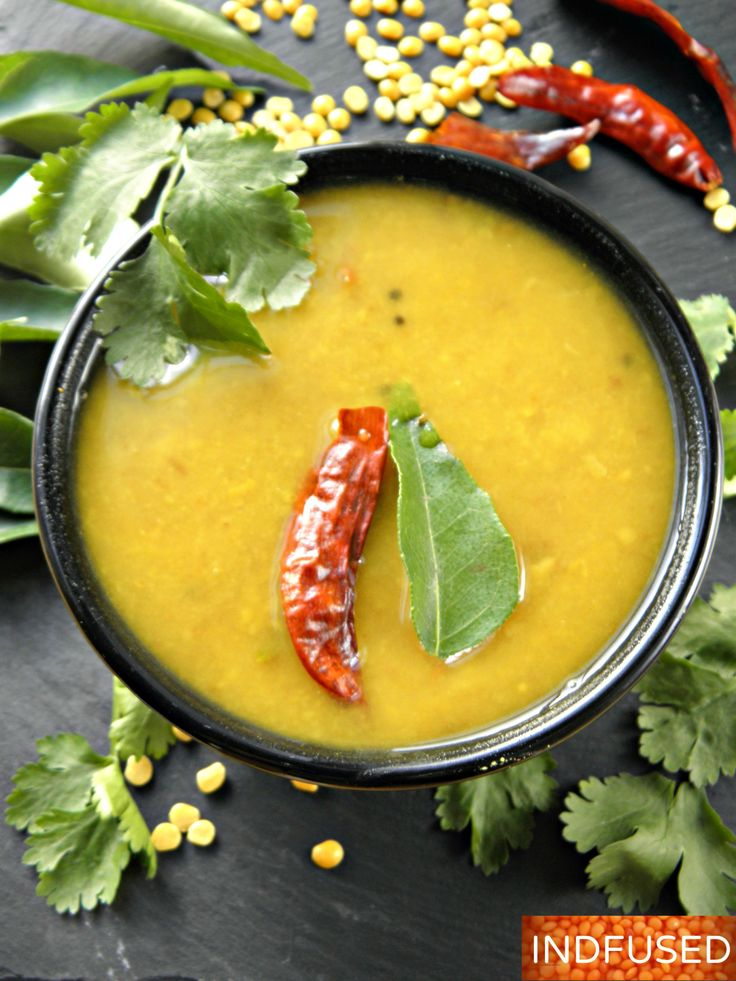 Authentic recipe for Godi dal- delectable Indian sweet and sour dal served with rice