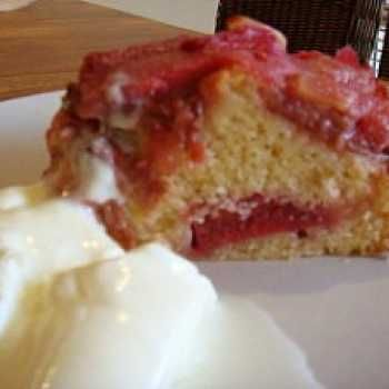 Thermomix recipe: Gone In 60 Seconds Or Easy Rhubarb Cake! · Tenina.com