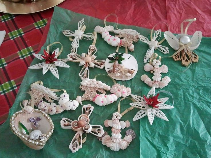 Seashell christmas ornaments products i love pinterest - Seashell ornaments to make ...