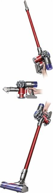 Dyson - V6 Absolute Bagless Cordless Stick Vacuum - Nickel/Red - Alt_View_Zoom_12