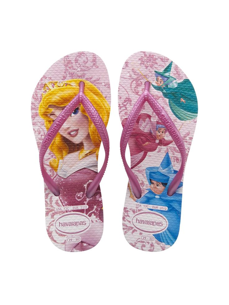 Havaianas KIDS SLIM PRINCESS CRYSTAL PEMBE