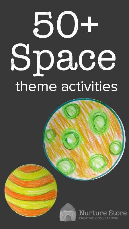 Més de 50 activitats temàtiques d'espai per als nens 50+ space theme activities for kids