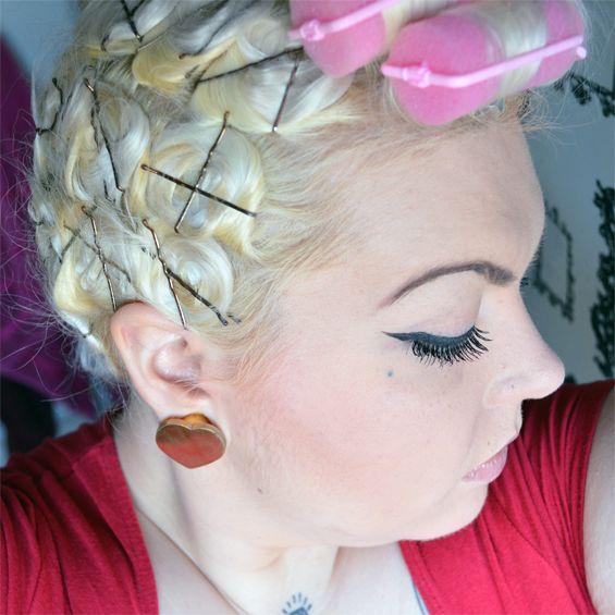 Sugar Darling Vintage Style Hair Tutorial 1 My Pin