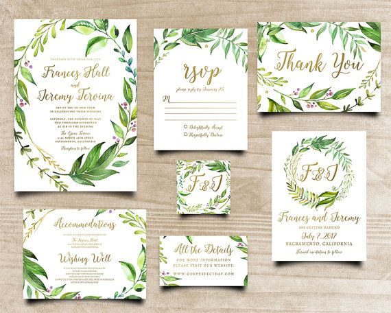 Best 25 bohemian invitation ideas on pinterest bohemian wedding leafy invitation calligraphy invite printable invite green leaves invite bohemian invitation printable wedding invitation stopboris Gallery