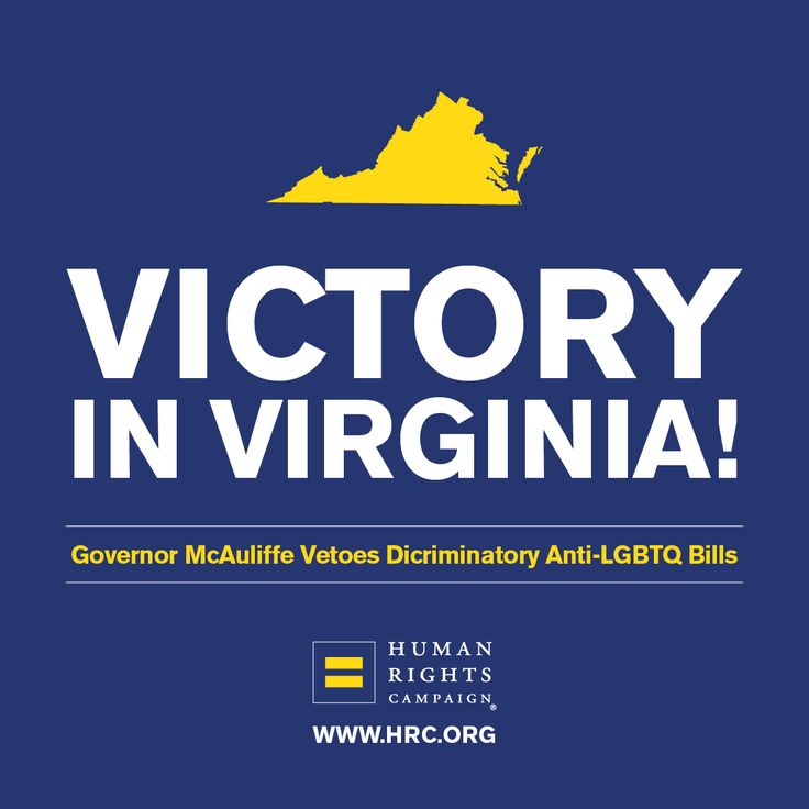 Virginia Governor Terry McAuliffe's vetoes SB 1324 and HB 2025 — discriminatory legislation seeking to give taxpayer-funded agencies and service providers a license to discriminate against LGBTQ people under the guise of religion.