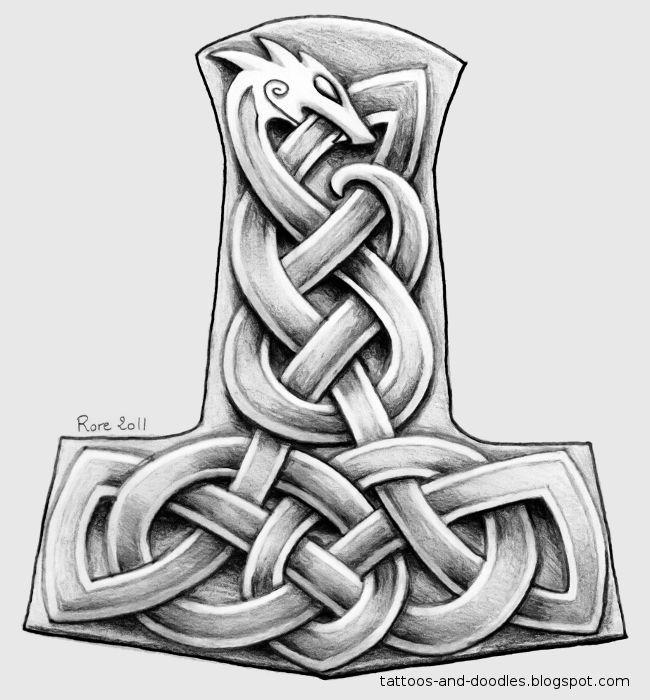 Hammer Tattoo Designs | Tattoos and doodles: Mjölnir ...