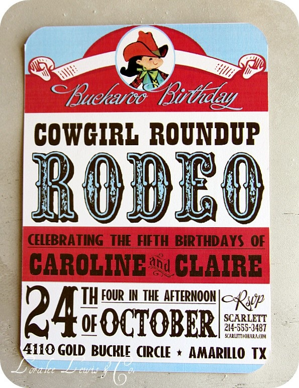 Cowgirl Rodeo labels/signs
