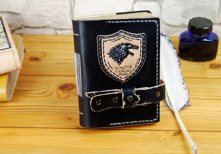 Winter is Coming, Stark journal, Game of Thrones Journal, Personalized Journal, A6, A5  Handmade Journal, Gift TiVergy Book by TiVergy on Etsy