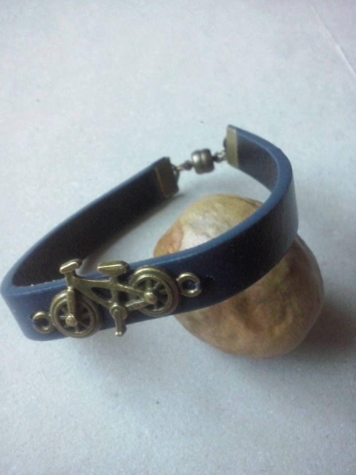 Jewelry for men,leather bracelet,bike love bracelet,triathlon bracelet by TriJewelry on Etsy