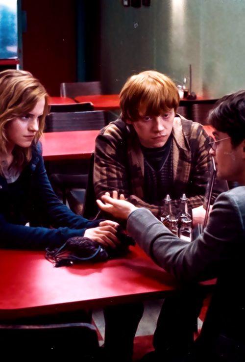 Harry zijn 2 beste vrienden, Ron en Hermelien, helpen hem in dit laatste boek om Voldemort eindelijk te verslaan.