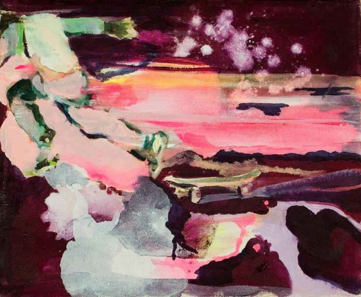 Anna Tuori – Skeittari pakenee, maalaus, 38 x 46cm , 2003