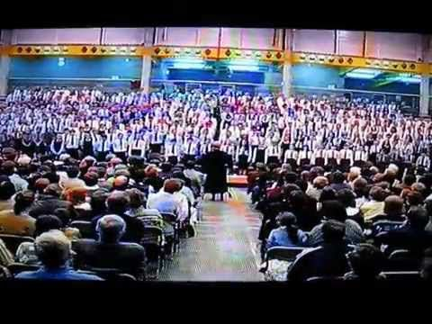 National Childrens Choir sing the Irish National Anthem - Waterford, Ire...