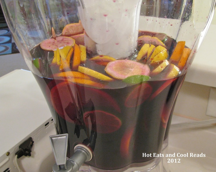 W is for Wine! Hot Eats and Cool Reads: Sweet Red Wine Party Sangria Recipe