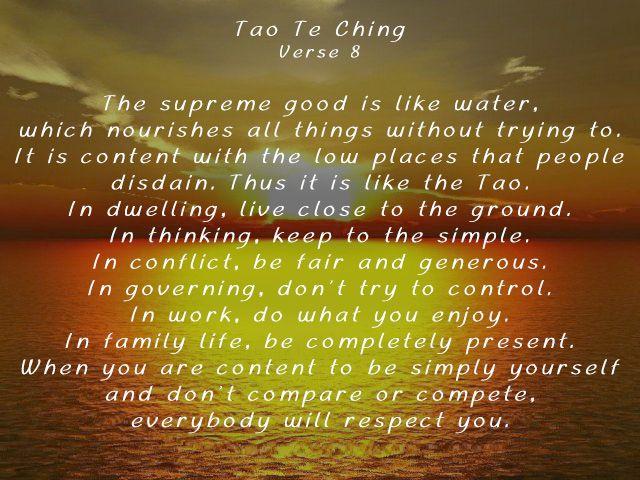 tao te ching verse inspiration tao te ching  tao te ching verse 8 inspiration tao te ching verses and chinese proverbs