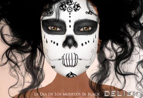Delizio - FREE GIFT!  La Dia de Los Muertos SUGAR SKULL Face Paint Tattoo 06…