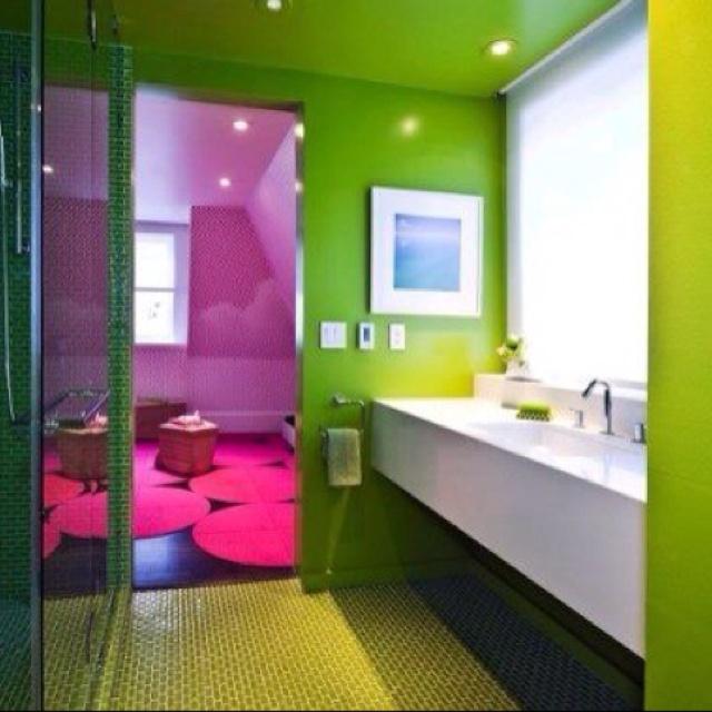 Colorful Bathroom Home Pinterest