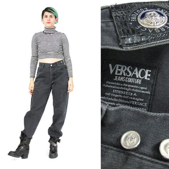 90s Versace Jeans Couture Baggy Fit Boyfriend by honeymoonmuse