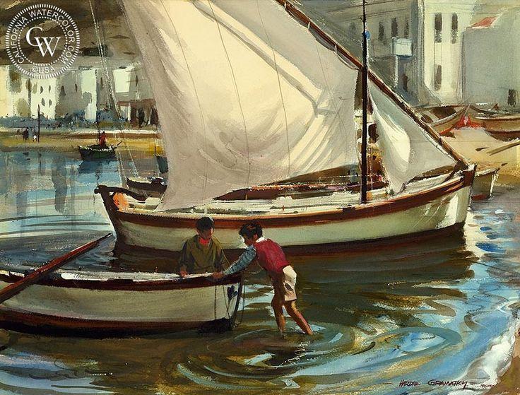 Mykonos, Greece, 1962 – California Watercolor