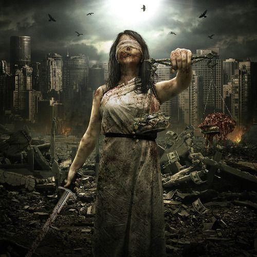Justice is blind | dark art | Pinterest | Lady justice ...