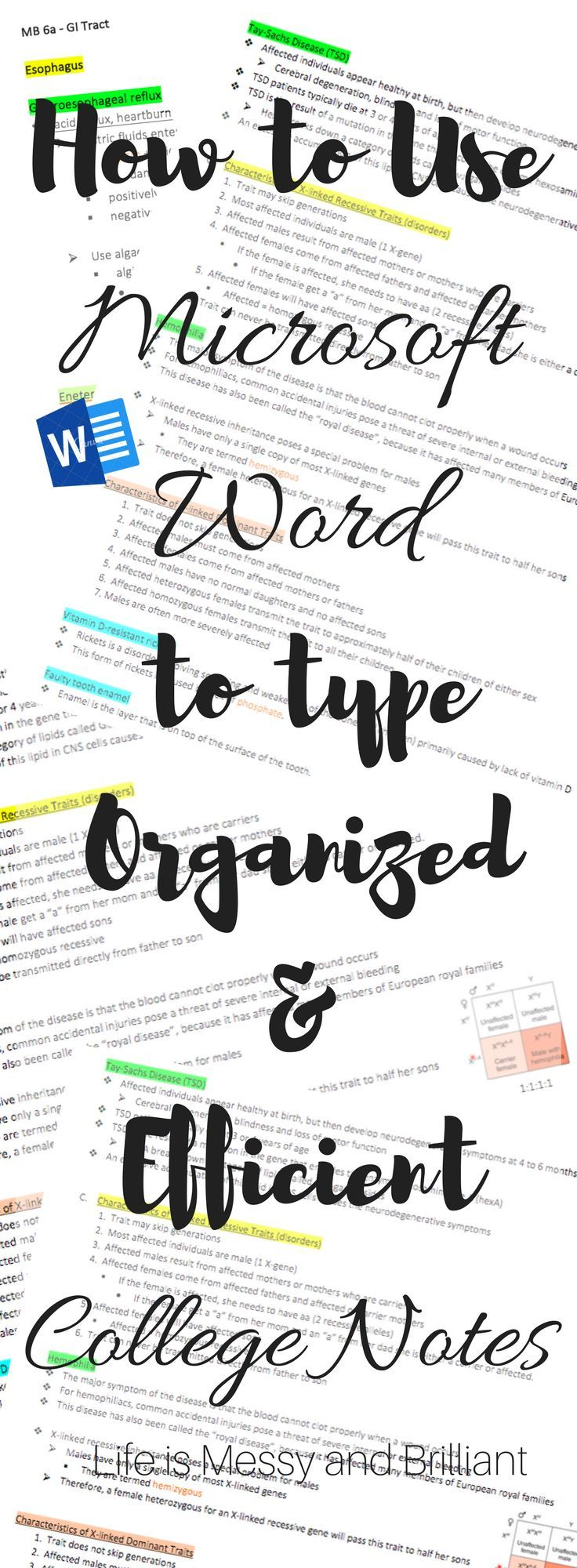 How to Use Microsoft Word to Type Organized and Efficient College Notes – Calcworkshop | Calculus Help + Tutoring + Video Lessons
