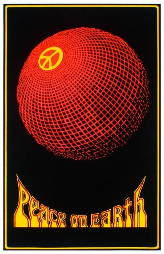 Peace On Earth Blacklight Poster - 24x36 - Poster Foundry