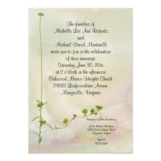 170 best zen wedding inspirations images on pinterest ideias para garden romance wedding invitation stopboris Image collections