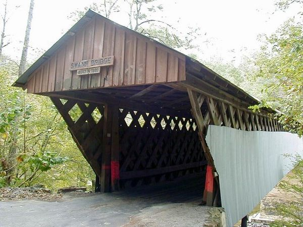Swann bridge built in 1933 in Cleveland in Blount County. (Contributed by Wikipedia Commons)
