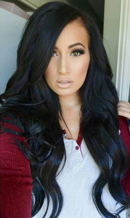 Stupendous 1000 Ideas About Long Black Hair On Pinterest Black Hair Hair Hairstyles For Women Draintrainus