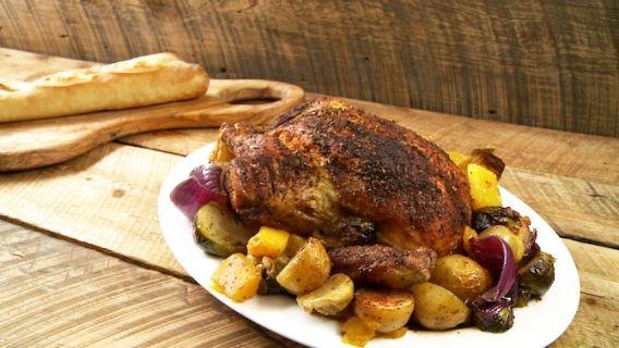 Poulet rôti aux épices - Recettes de cuisine, trucs et conseils - Canal Vie