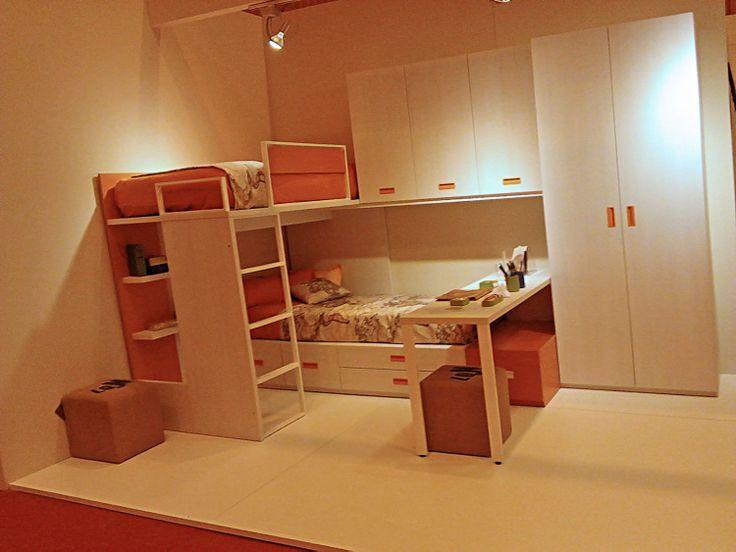 Dormitorio juvenil novedad 2014 de ros feria del mueble for Muebles vila de cambre