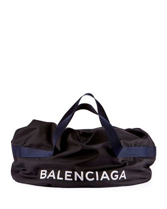 6d09c2349476 Nylon+Logo+Basic+Duffel+Bag+by+Balenciaga+at+Neiman+Marcus.