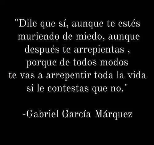 """smiledontgiveup: """" Descansa en paz García """" Gracias Gabriel"""