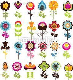 retro flower prints - Google Search