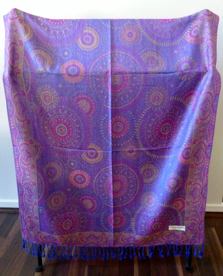 Scarf, Wrap, Shawl, Ladies Luxurious Vibrant Soft Pashmina, 100% Cashmere, Great Gift, #19 by WanderingThreadz on Etsy