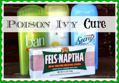 Yup!  A homemade remedy for poison ivy/oak/sumac!  Check it out! #Camping #Outdoors #FirstAid