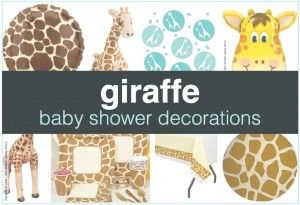 Get ideas for Giraffe Baby Shower Decorations at http://showerthatbaby.com/themes/gender-neutral-baby-shower-themes/giraffe-baby-shower/giraffe-baby-shower-decorations/