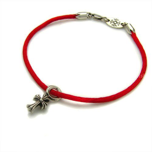 Red Satin Chrome Hearts Bracelet With Cross Pendant Hot Sale [Chrome Hearts Bracelet] - $174.00 : Chrome Hearts Sale   Chrome Hearts Shop Online