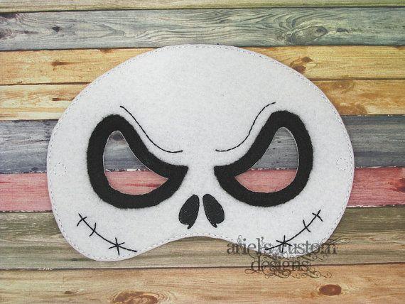 Jack Skellington Mask  Skull Mask  by ArielsCustomDesigns on Etsy