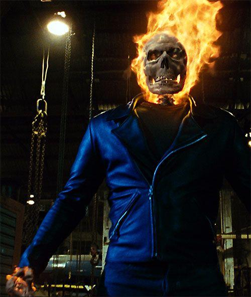 Ghost Rider (Nicholas Cage 2007 movie) transforming