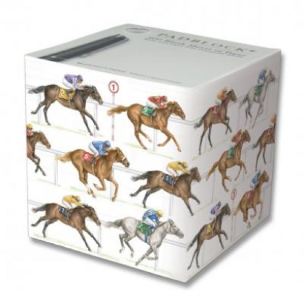 Horse Racing 800 sheet Pad Block - Stationery