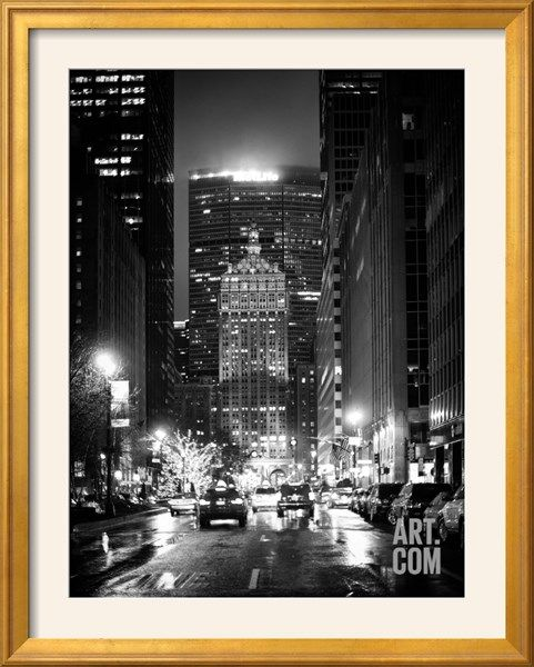 The Metlife Building Towers over Grand Central Terminal by Night Photographic Print by Philippe Hugonnard at Art.com