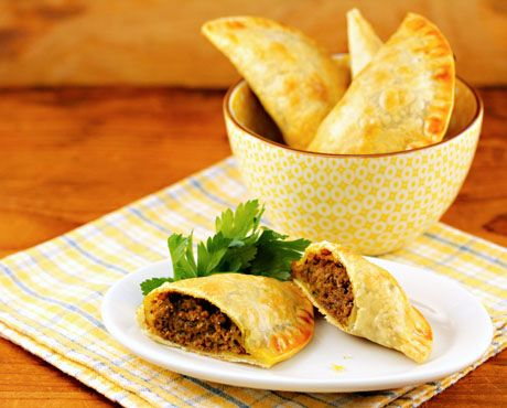 Jamaican meat patties made with store-bought empanada dough. So easy for a party!