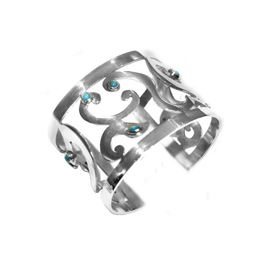 Exclusive cuff with turquoise. #turquoise #jewelry #jewellery #cuff