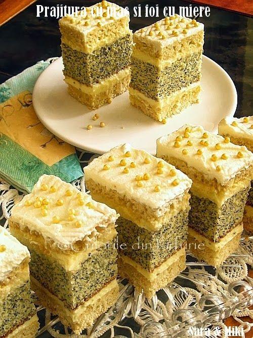 Culorile din farfurie: Prajitura cu mac si foi cu miere