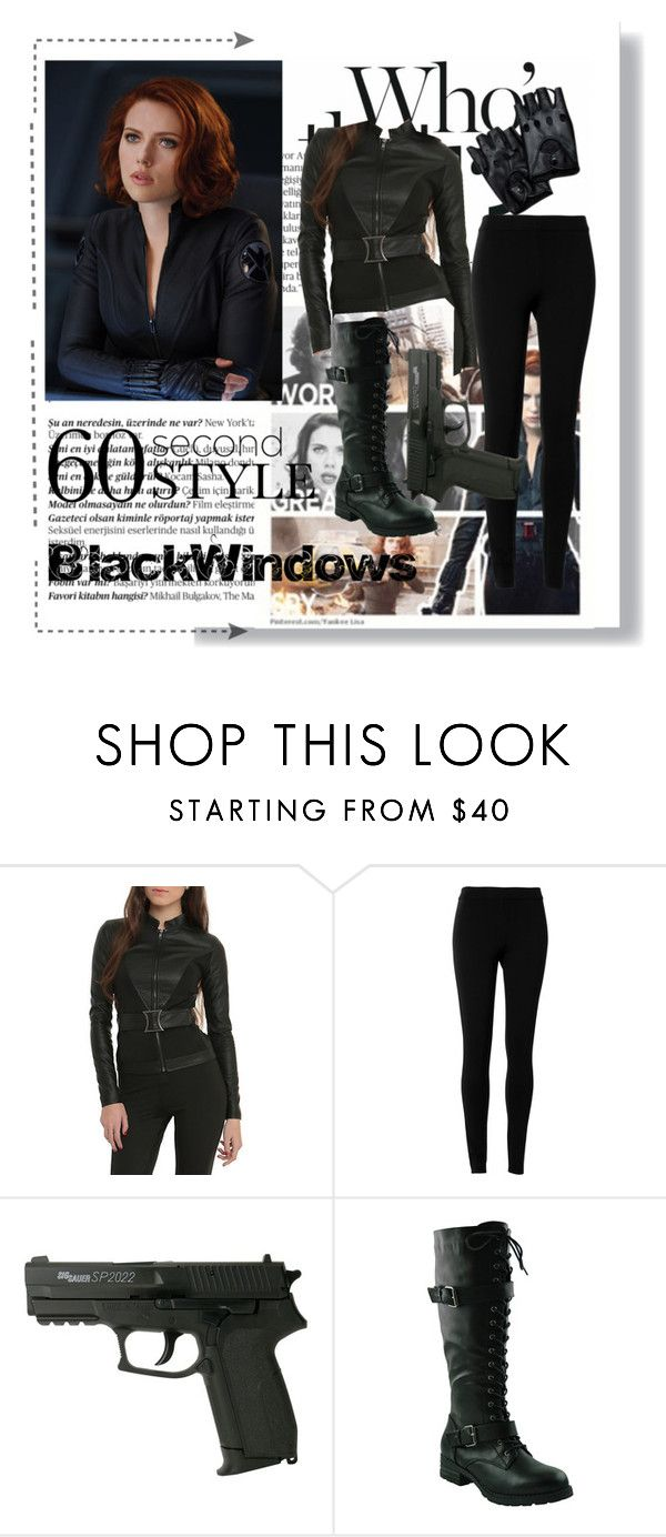 Black Windows by hacii on Polyvore featuring moda, Max Studio, Balmain, Halloween, black, beoriginal, 60secondstyle and superherocostume
