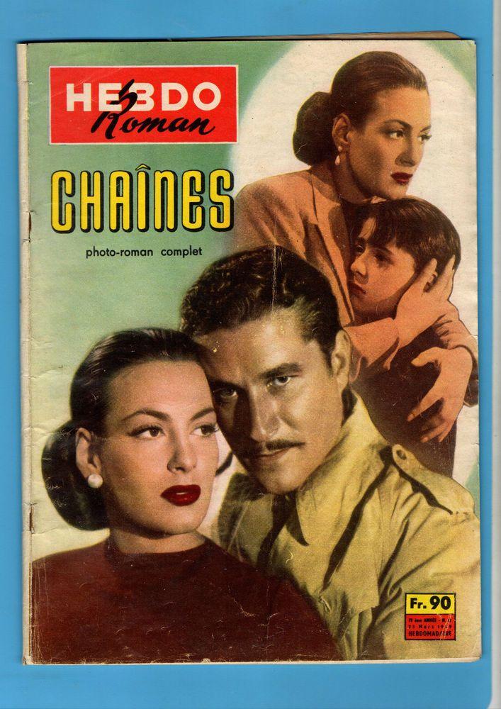 ►  HEBDO ROMAN PHOTO 12/1959 - CHAINES - YVONNE SANSON - NAZZARI